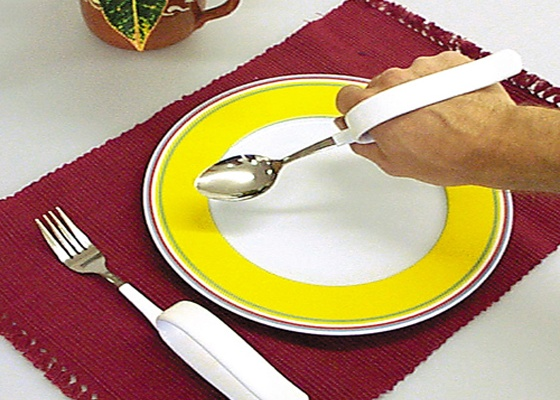 Adaptive meal utensils and plate