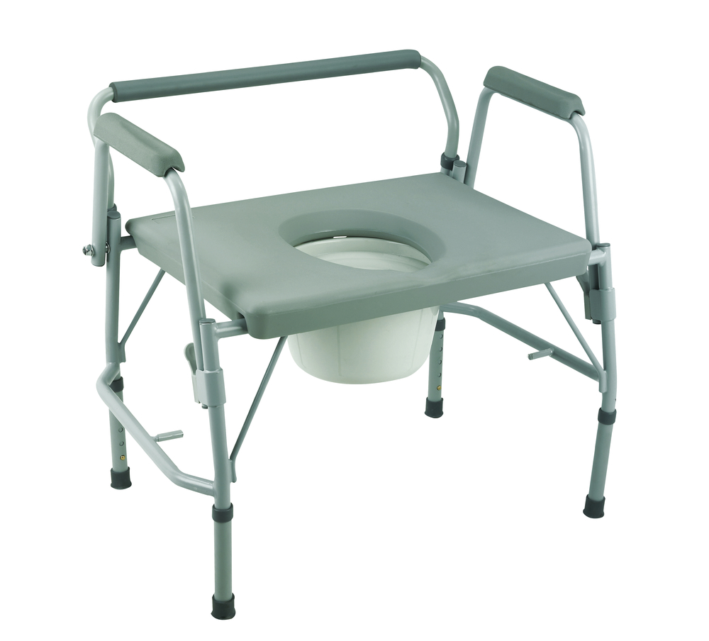 A bedside commode/toilet